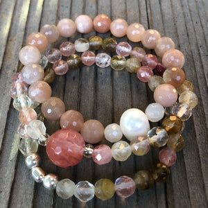 Peachy Stretchy Stacker Bracelet