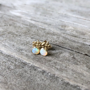 Opal Stud Earrings | Turquoise Blue Design Co.