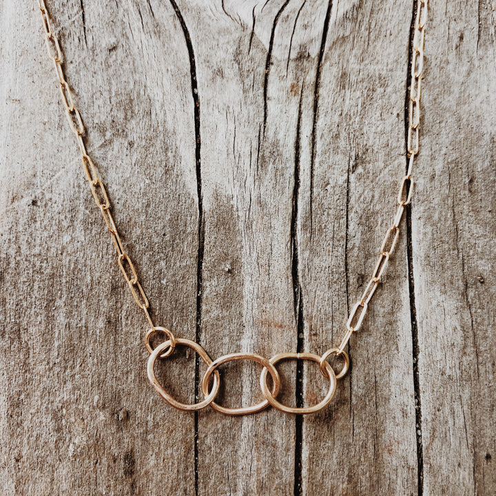 Gold Love Circle Necklace| Megen Gabrielle Jewelry Studio