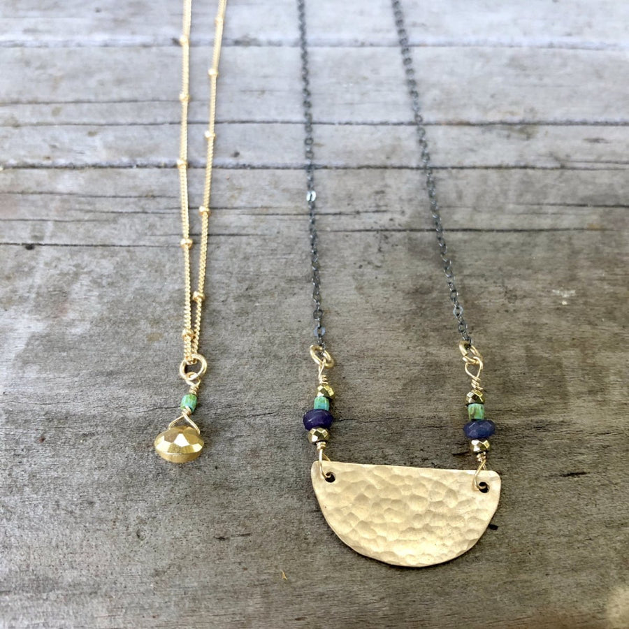 The Rise Mixed Metal Necklace | Turquoise Blue Design Co.