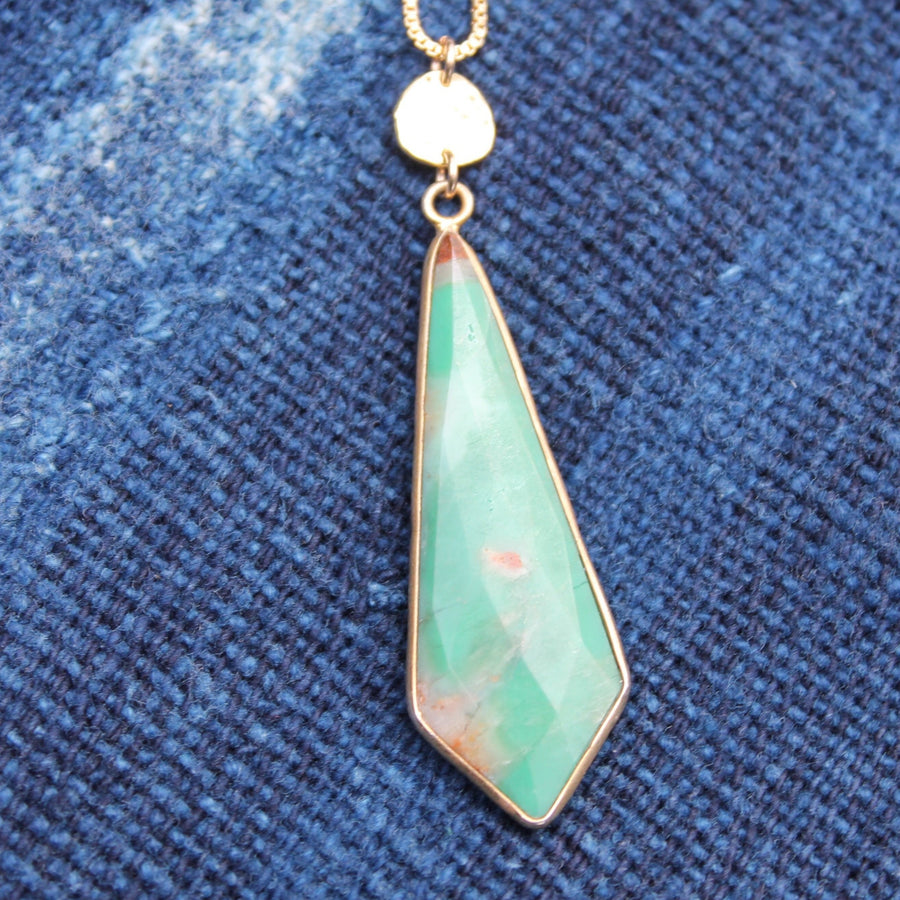 Chrysoprase Pendant Necklace | Turquoise Blue Design Co.