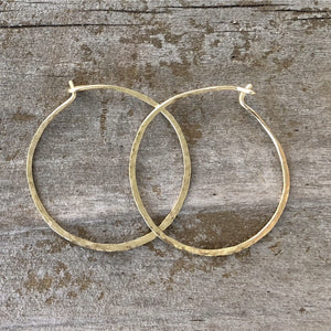 The Everyday Hand Forged  Hoops