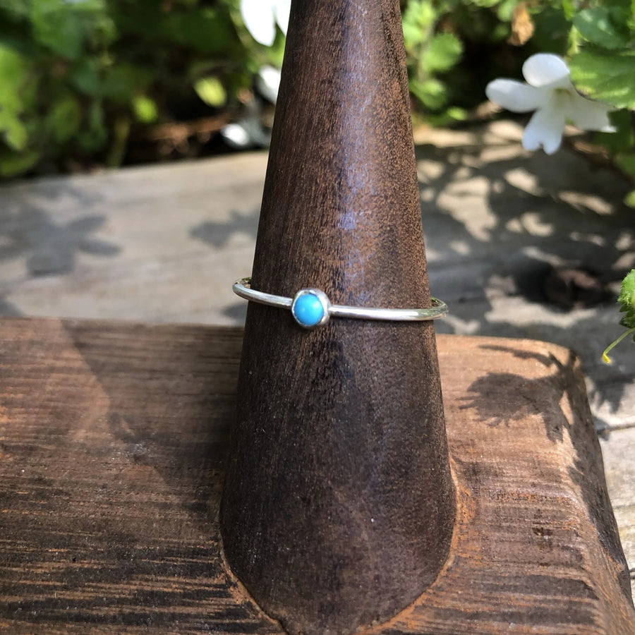 Small Stone Stacking Rings