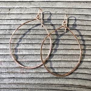 Oval Drop Earrings| Small Med. Large