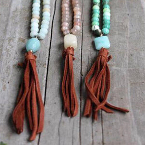 The Be Free Leather Tassel Necklace