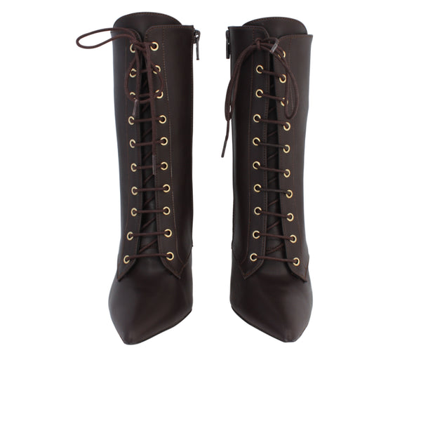 ZIP LACE-UP BOOTS