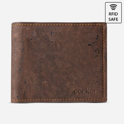 BIFOLD WALLET FOR MEN-BROWN
