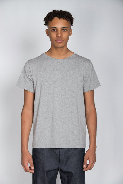 Grey marl organic cotton t-shirt