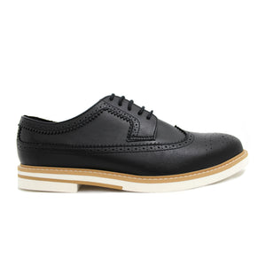 CONTRAST SOLE BROGUES (BLACK)