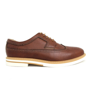 CONTRAST SOLE BROGUES (BROWN)