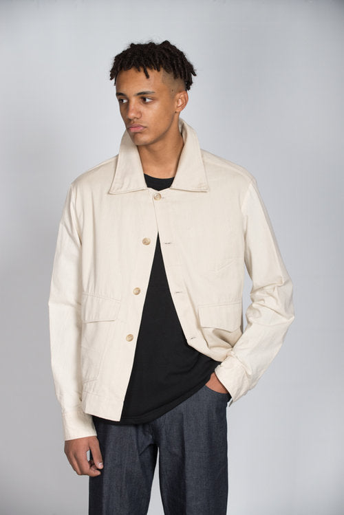 Denim Chore jacket 'old white'