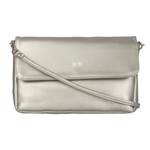 Silver Flo clutch bag