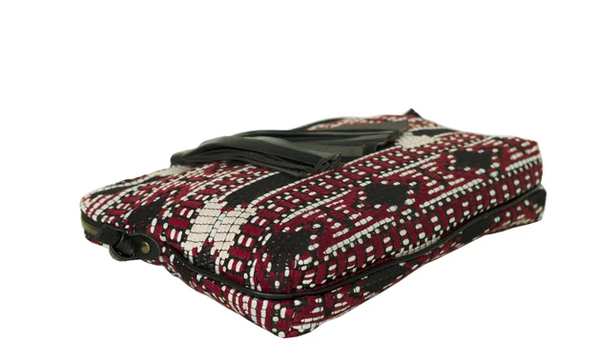 TASMAN bag - red Jacquard