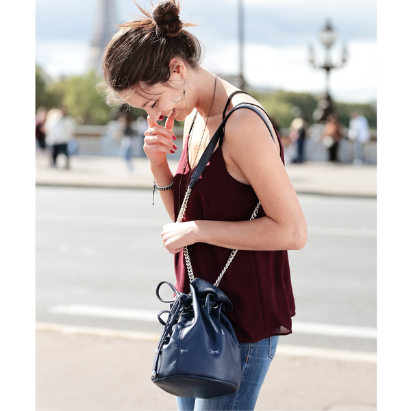 Paris Happy purse claudine navy blue