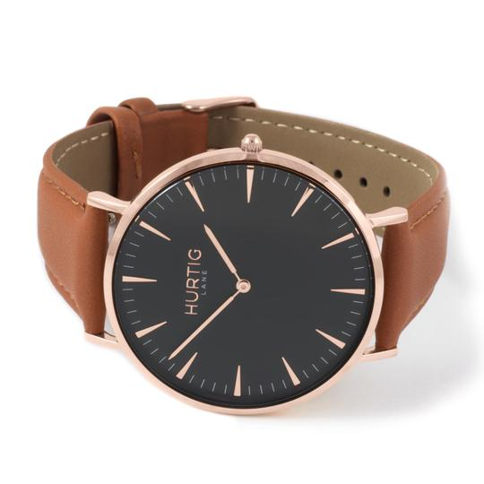 MYKONOS WOMAN'S WATCH, ROSE GOLD/BLACK/TAN