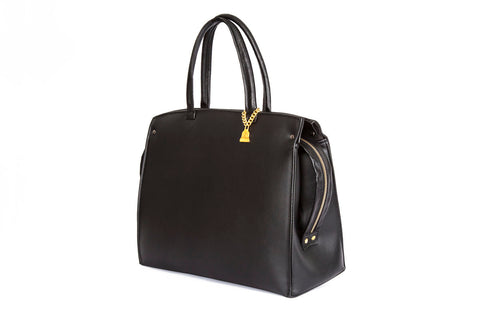 Drayton Black Loop Zip Tote