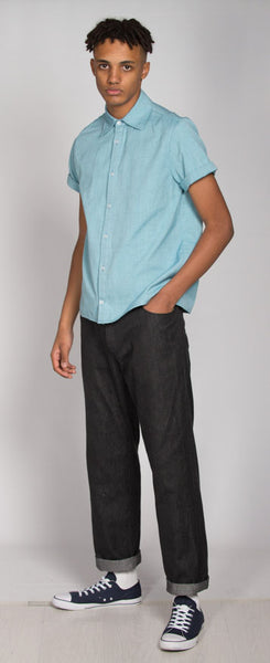 Short sleeve aqua shirt
