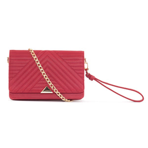 Serin Red quilted across body bag