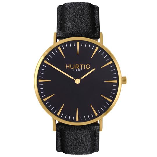 MYKONOS MEN'S WATCH, GOLD/BLACK/BLACK