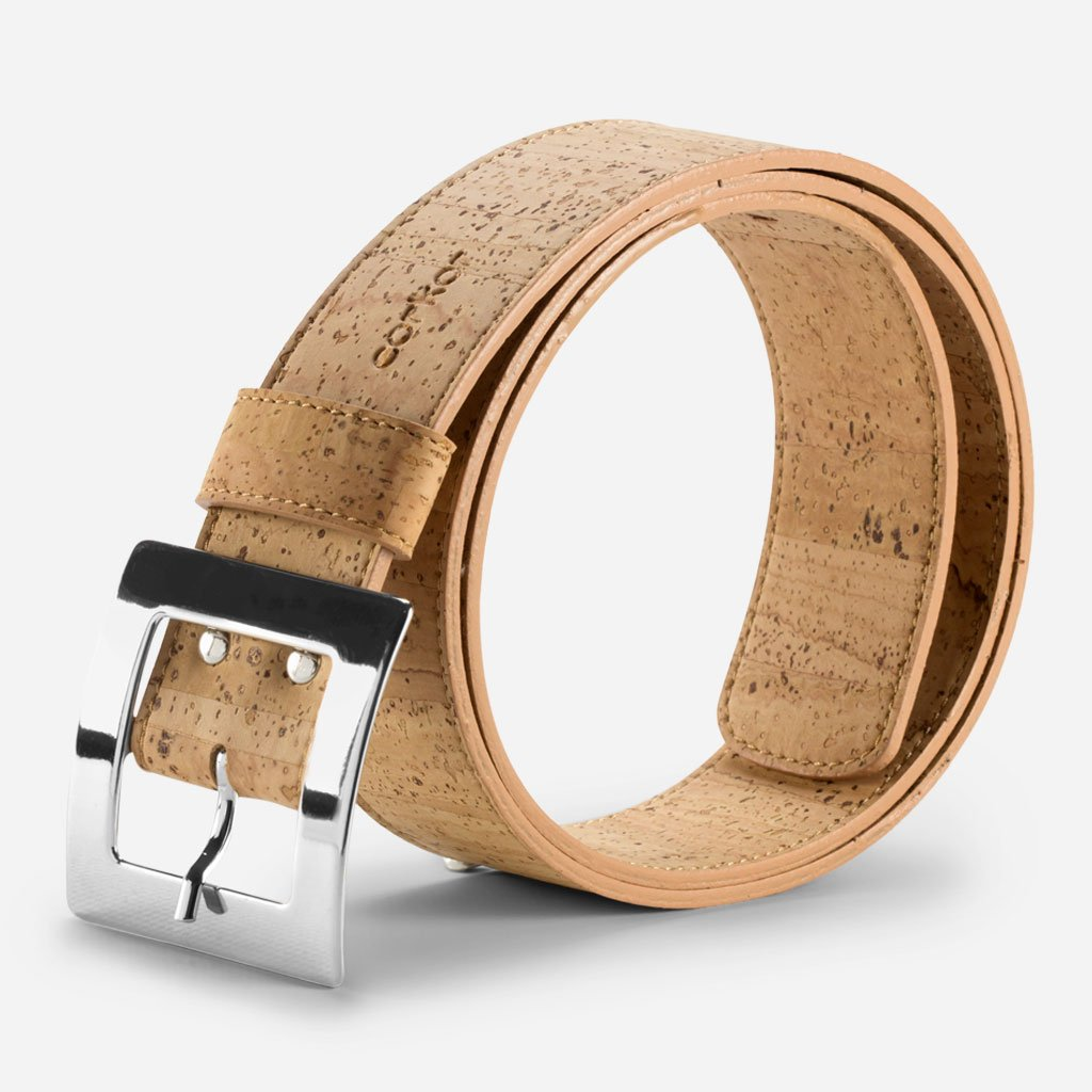 CORK BELT WOMEN 40MM-LIGHT BROWN