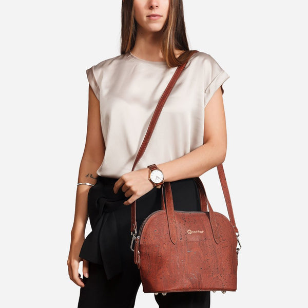 CORK CROSSBODY PURSE-RED