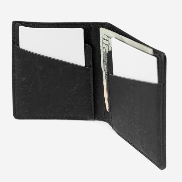 SLIM CORK WALLET-BLACK