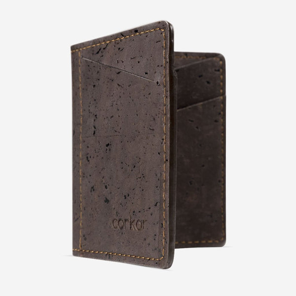 SLIM CORK WALLET-BROWN