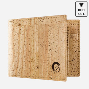 CORK WALLET WITH COIN POCKET-LIGHT BROWN