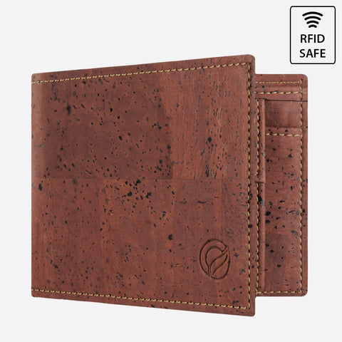 CORK WALLET WITH COIN POCKET-RED