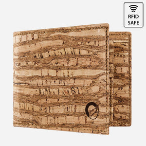 CORK WALLET WITH COIN POCKET-ZEBRA