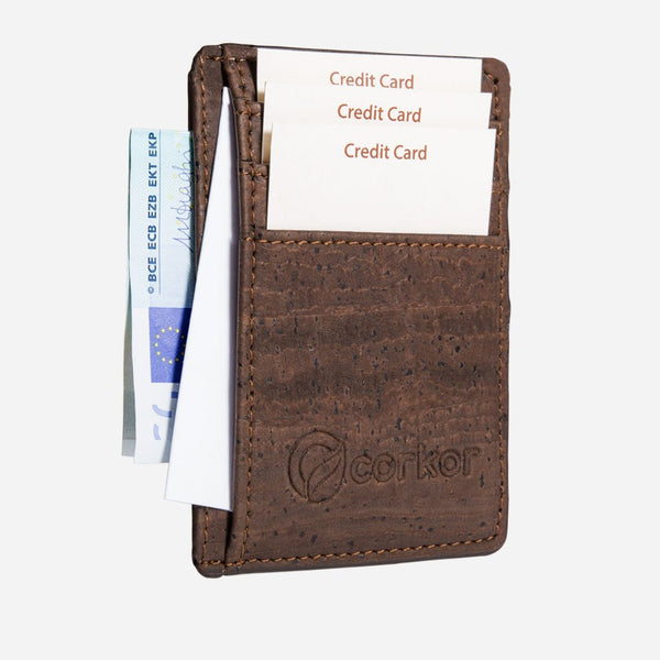 CARDS WALLET RFID SAFE-BROWN