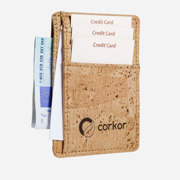 CARDS WALLET RFID SAFE-LIGHT BROWN