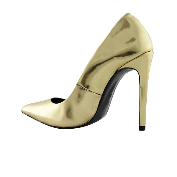 METALLIC SHEEN PUMPS