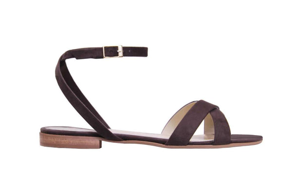 Clio Flat Sandal - Dove Brown