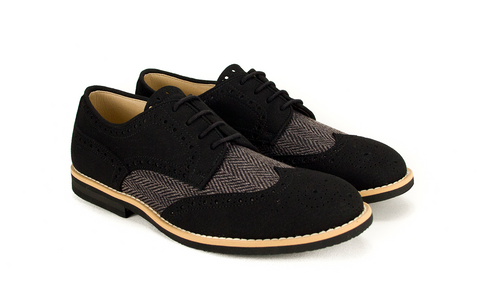 Derby Rea - Tweed Black Grey