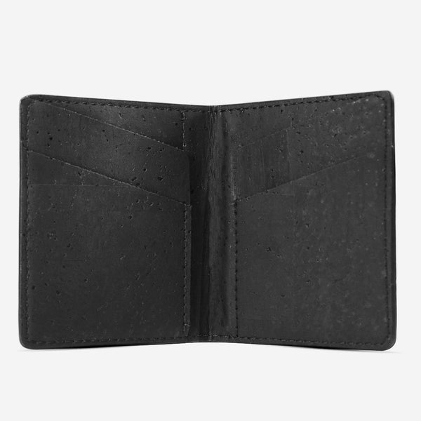 SLIM WALLET COINS POCKET-BLACK