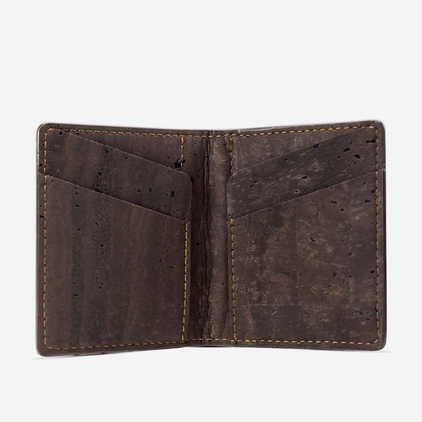 SLIM WALLET COINS POCKET-BROWN