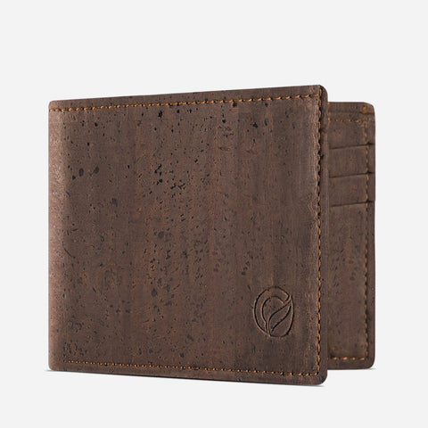 SLIM BIFOLD WALLET-BROWN
