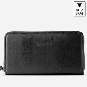 CORK WALLET LONG-BLACK