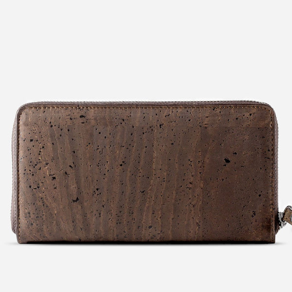 CORK WALLET LONG-BROWN