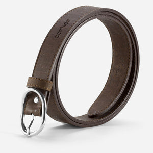 CORK BELT 25MM-BROWN