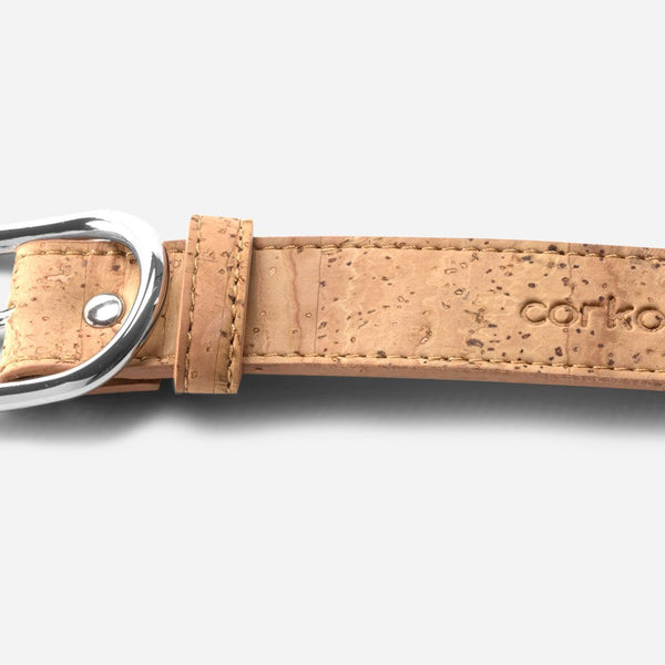 CORK BELT 25MM-LIGHT BROWN