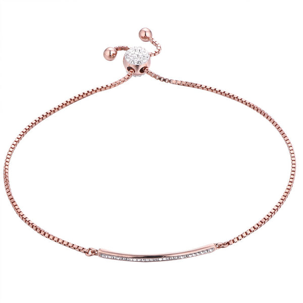 Rose Gold on sterling silver bar bracelet
