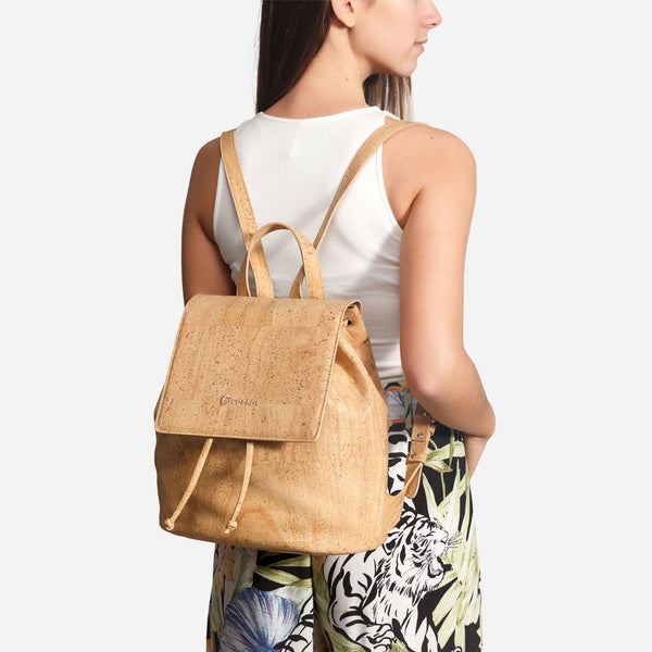 CORK BACKPACK-LIGHT BROWN