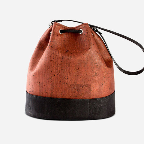 CORK BUCKET BAG-RED