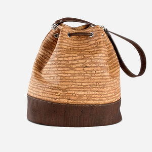 CORK BUCKET BAG-ZEBRA
