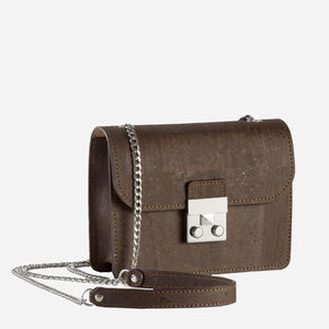 MINI CROSS-BODY BAG-BROWN
