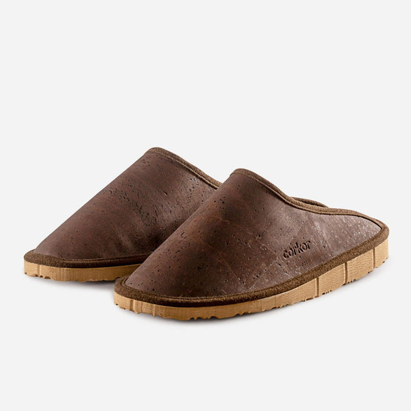SLIPPERS MEN-BROWN