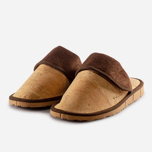 SLIPPERS WOMEN-LIGHT BROWN