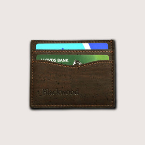 Ultra Slim Card Holder-Oak Brown
